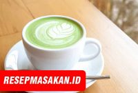 resep green tea latte, green tea, green tea ala starbucks, resep minuman, cara membuat green tea latte, resep minuman enak